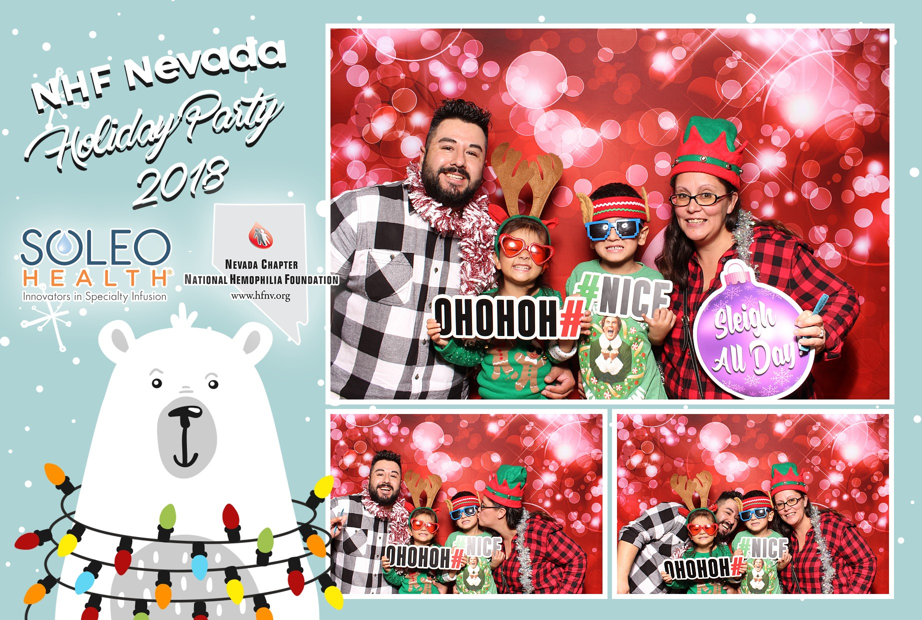 Company Holiday Party Photo Booth Rental
